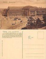 Deutschland - Leipzig - Hauptbahnhof ANIMIERT MIT TRAM UND KUTSCHE (A-L 136) - Postales