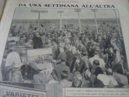 DOMENICA DEL CORRIERE 1932 AGRO PONTINO CARPI ROVIGO CURTI MUSSOLINI - Altri