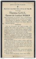 ATTERT ..-- Mme Thérèse GAUL , épouse De Mr Lambert WEBER , Née 1872 à GRENDEL , Décédée En 1934 . - Attert