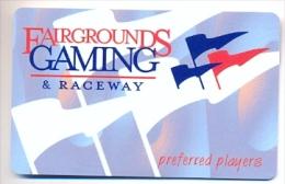 Fairgrounds Gaming & Raceway, Hamburg, NY, U.S.A., older BLANK used slot or player�s card,  fairgrounds-2blank