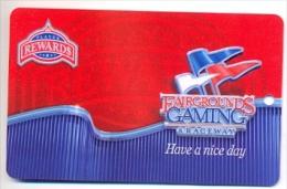 Fairgrounds Gaming & Raceway, Hamburg, NY, U.S.A., older BLANK used slot or player�s card,  fairgrounds-3blank