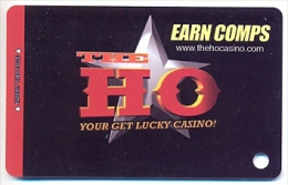 HO Casino, Las Vegas, older used BLANK slot or player�s card,  ho-1blank