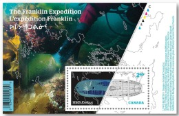 Canada, 2015, MNH, exp�dition franklin,. exploration, bateau, boat, plong�e, scuba diving, arch�ologie, archaeology