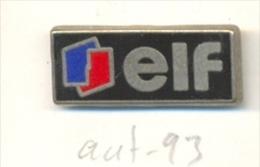 13-aut93. Pin Elf. Emblema Y Fondo Negro - Carburantes