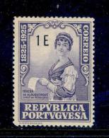 ! ! Portugal - 1925 Camilo Castelo Branco Writer 1 E - Af. 350 - MH - 1910-... Republic