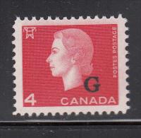 Canada MNH Scott #O48 G Overprint On 4c Elizabeth II Cameo Issue - Officials