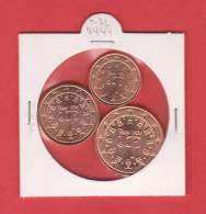 PORTUGAL  0,01€ + 0,02€ + 0,05€  COBRE  2.004  2004   SC/UNC        DL-7444 - Portugal