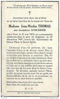 POST ..-- Mme Joséphine SCHLESSER , épouse De Mr Jean THOMAS , Née En 1873 , Décédée En 1947 . - Attert