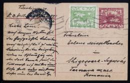 A3200) Czechoslovakia Karte Vom 27.10.1919 Nach Rumänien - Briefe U. Dokumente