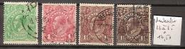 Australie 32 à 35 Oblitérés Côte 17.50 € - 1913-36 George V: Heads