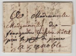 FP047/ Valence A Grenoble 1787 (mit Textinhalt) - 1701-1800: Précurseurs XVIII