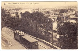 AK B Namur Citadelle Panorama Du Tienne Des Biches Et Tramway - Namur