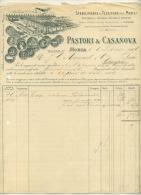 MONZA . PASTORI & CASANOVA . TINTORIA E STUDIO TECNICO PROPRI . 1906 . - Italia