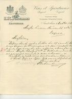AMSTERDAM . VINS ET SPIRITUEUX . HWC WURDEMANN . 1908 . - Pays-Bas