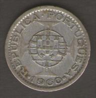 MOZAMBICO 5 ESCUDOS 1960 AG SILVER - Mozambico