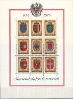 Oostenrijk - 25-10-1976 - 1000 Jahre Österreich - Wappen Der Bundesländer - MNH - M Blok 4 - Postzegels