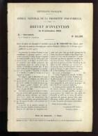 - PANNEAUX DECORATIFS POUR VOITURES D´ENFANTS . BREVET D´INVENTION DE 1903 . - Technical