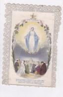 Superbe Canivet 8 Decembre 1854 Vierge Marie En Levitation Sur Serpent Et Lune  Devant Tous Les Peuples En Couleurs - Images Religieuses