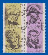 AUSTRALIA 1973  FAMOUS  AUSTRALIANS BLOCK  FINE USED  S.G. 537a - Oblitérés