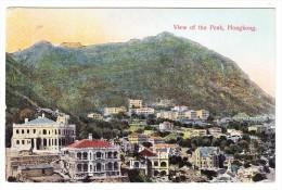 China - Hong-Kong - View Of The Peak -12-7-1912 Schanghai Deutsche Post Stempel Auf AK Nach Wien - Chine