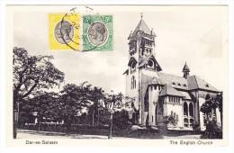 Tanzania Daar-es-Salaam English-Church Ges. Nach Brüssel Frankiert Mit Englische Kolonie Marken - Tanzanie