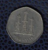 Emirats Arabes Unis UAE 1995 Monnaie Coin 50 Fils Puits Derricks De Pétrole - Emirats Arabes Unis