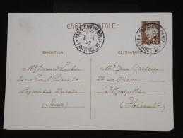 """FRANCE - Cachet """" Paris Gare Du Nord Province B """" En 1942 Sur Entier Postal En 1942 - à Voir - Lot P8342 - Marcophilie (Lettres)"""