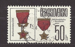Czechoslovakia  Tschechoslowakei  1987 Gest. Mi 2897 Sc 2642  State Decorations,  Orden.  C.1 - Czechoslovakia