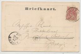 NEDERLAND - PERFIN On 1902 Briefkaart From HAARLEM - Groote Kerk-  To ANVERS - Periode 1891-1948 (Wilhelmina)