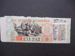 Billets De Loterie - Détaillons Jolie Collection - A Voir - Lot N° 8227 - Billets De Loterie