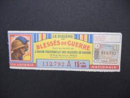 Billets De Loterie - Détaillons Jolie Collection - A Voir - Lot N° 8233 - Billets De Loterie
