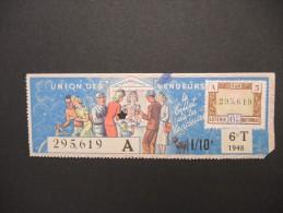 Billets De Loterie - Détaillons Jolie Collection - A Voir - Lot N° 8235 - Billets De Loterie