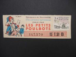 Billets De Loterie - Détaillons Jolie Collection - A Voir - Lot N° 8239 - Billets De Loterie