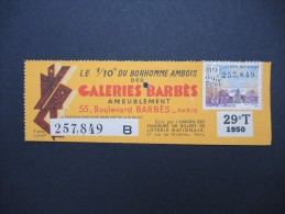 Billets De Loterie - Détaillons Jolie Collection - A Voir - Lot N° 8240 - Billets De Loterie