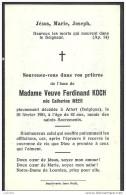 ATTERT ..-- Mme Catherine MEER , Veuve De Mr Ferdinand KOCH , Née En 1869 , Décédée En 1951 . - Attert