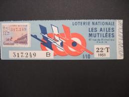 Billets De Loterie - Détaillons Jolie Collection - A Voir - Lot N° 8242 - Billets De Loterie