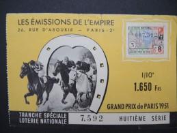 Billets De Loterie - Détaillons Jolie Collection - A Voir - Lot N° 8246 - Billets De Loterie