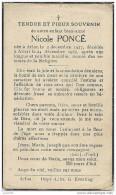 ATTERT ..-- Melle Nicole PONCE , Née En 1927 à ARLON , Décédée En 1937 . - Attert