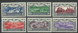 Egypt,1959  Year., Trains, Marine  Set. Stamps MNH (**) - Neufs