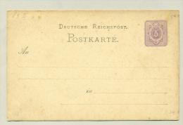 Deutsches Reich - 1875 - 5 Pfennige Postkarte - Duitsland