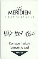 HOTEL LE MERIDIEN MONTPARNASSE, llave clef key keycard hotelkarte