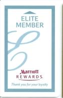 HOTEL MARRIOTT ELITE MEMBERS, Llave Clef Key Keycard Hotelkarte - Hotel Labels