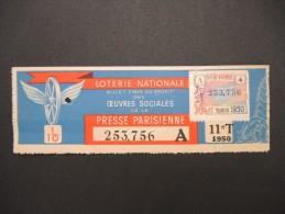 Billets De Loterie - Détaillons Jolie Collection - A Voir - Lot N° 8249 - Billets De Loterie