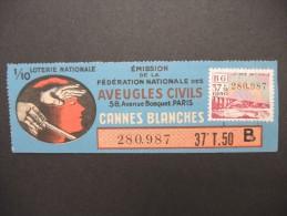 Billets De Loterie - Détaillons Jolie Collection - A Voir - Lot N° 8258 - Billets De Loterie