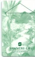 HOTEL SHANGRI -LA llave clef key keycard hotelkarte