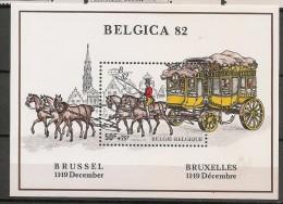 BELGIQUE - Exposition Philatélique Mondiale BELGICA 82 - Yvert  Bloc # 59 - ** MNH - Belgique