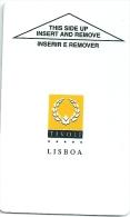 HOTEL TIVOLI LISBOA llave clef key keycard hotelkarte