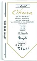 HOTEL OKURA AMSTERDAM llave clef key keycard hotelkarte
