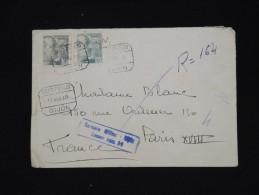 ESPAGNE -Enveloppe En Recommandée De Gijon Pour Paris En 1940 Avec Censure Militaire - à Voir -lot P8364 - Republikanische Zensur