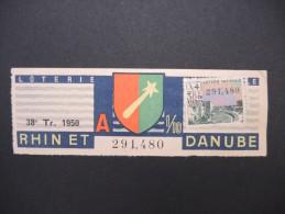 Billets De Loterie - Détaillons Jolie Collection - A Voir - Lot N° 8266 - Billets De Loterie